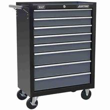 Tool Chest Sealey AP3508TB Rollcab 8 Drawer with Ball Bearing Slides - Black/Grey