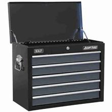 Tool Chest Sealey AP3505TB Topchest 5 Drawer with Ball Bearing Slides - Black/Grey
