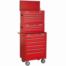 Tool Box Combination Sealey AP22STACK 14 Drawer Stack - Red