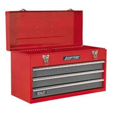 Sealey AP9243BB Topchest 3 Drawer Portable with Ball Bearing Runners - Red/Grey
