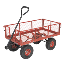 Sealey CST997 Platform Truck with Sides Pneumatic Tyres 200kg Capacity