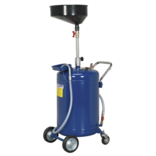 Sealey AK458DX Mobile Oil Drainer 90ltr Air Discharge