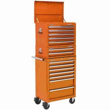 Tool Chest Combination Sealey APSTACKTO 14 Drawer - Orange