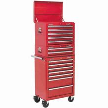 Tool Chest Combination Sealey APSTACKTR 14 Drawer - Red