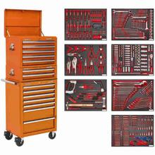 Tool Chest Combination Sealey TBTPCOMBO4 c/w 446pc Tool Kit - Orange