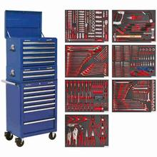 Tool Chest Combination Sealey TBTPCOMBO5 c/w 446pc Tool Kit - Blue
