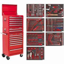 Tool Chest Combination Sealey TBTPCOMBO1 14 Drawer c/w 446pc Tool Kit - Red